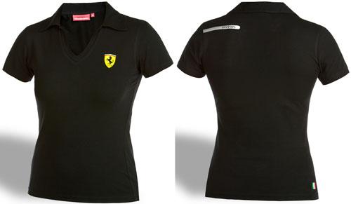 Футболка поло женская Ferrari Scudetto Bands.